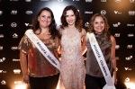 Ingra Liberato fez bonito com vestido de renda, ao lado das participantes latino-americanas